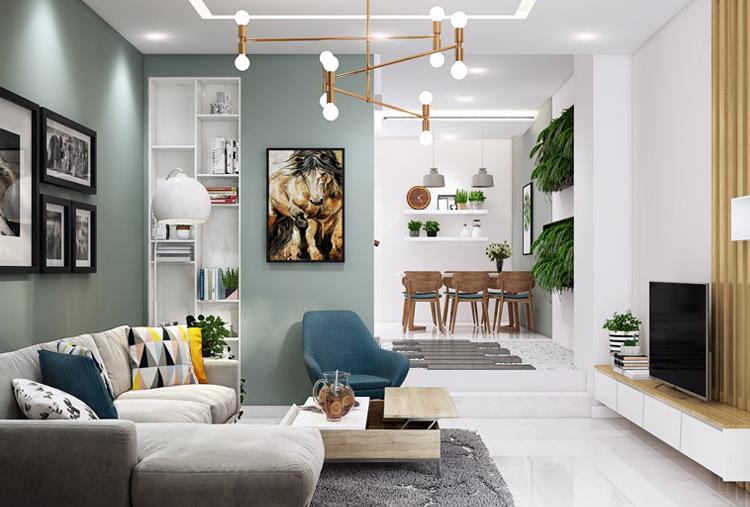 xu hướng thiết kế nội thất không gian xanh