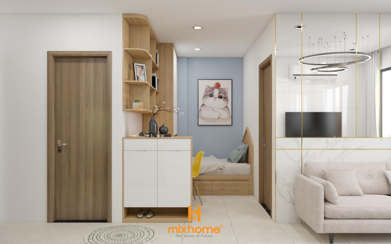 thiết kế nội thất căn hộ 43m2