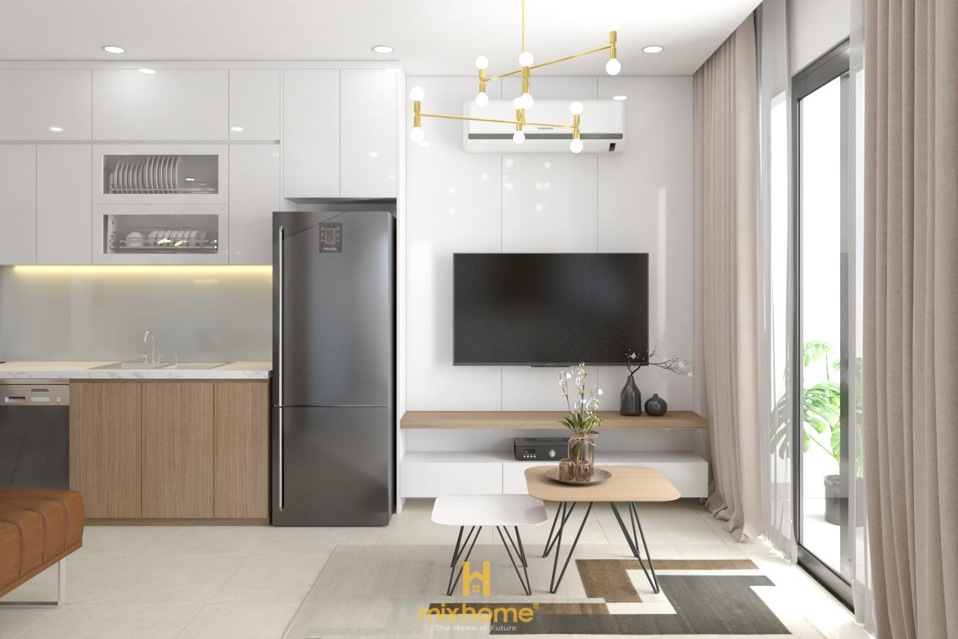 thiết kế nội thất căn hộ 62m2