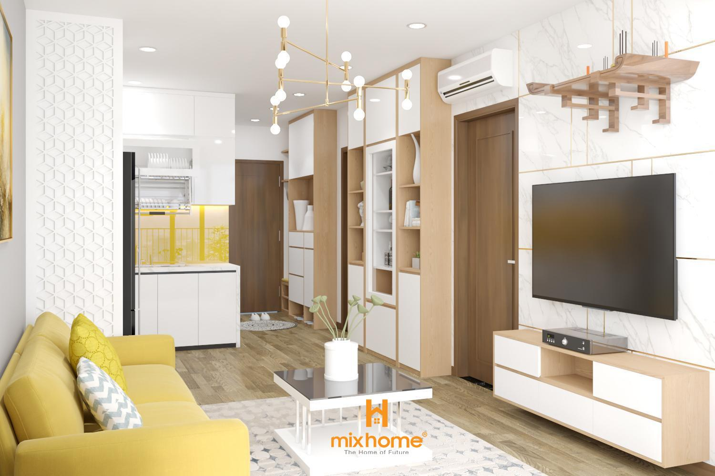 thiết kế nội thất căn hộ 59m2